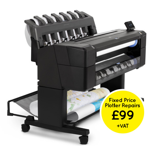 Hp plotter repairs uk fixed price plotter repairs 99 vat fandeluxe Gallery